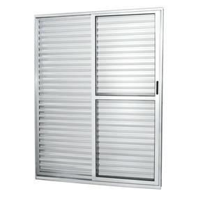 Porta De Correr Alumínio 3 Folhas 1 Fixa Com Vidro Li Dbwt