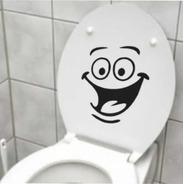 Adesivo Vaso Banheiro Trono Sorrindo Engraçado Divertido