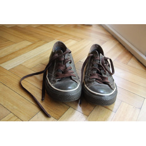 converse all star piel marron