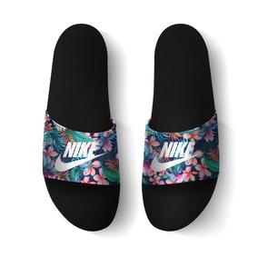 Chinelo Slide Nike Florido Floral Beach Sandalia Unissex Top