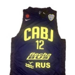 Musculosa De Basket Boca Para Niño 2018 Nike Originales