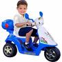 Moto Scooter Elétrica Infantil Tr0903a Rocket Azul 6v Brink+
