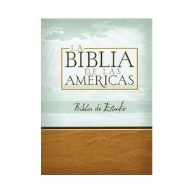 Biblia De Estudio Las Americas Piel, C/índice Negro
