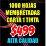 Hojas Membretadas Tamaño Carta Bond 90g Oferta