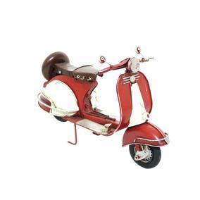 Motocicleta Lambreta Vermelho 28 Cm Estilo Retrô Vintage