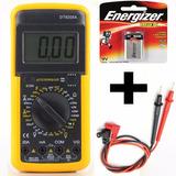 Tester Digital Multimetro Profesional + Puntas + Bateria 9v