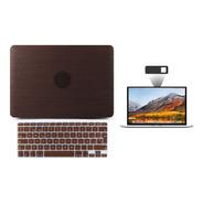 Kit Carcasa Case Tono Madera 3 En 1 Macbook Air Pro Touch