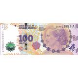 Nuevo Billete Evita $100 Serie Fa Sin Circular Palermo
