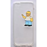Estuche Case Gel Iphone 5 5s Protector Transparente Simpson