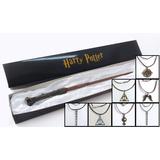 Varinha Harry Potter + 1 Colar À Sua Escolha!!!