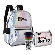 Kit Mochila Now United Original + Estojo + Brinde Resistente