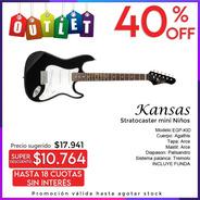 Guitarra Kansas Stratocaster Mini Niños Eg-kid Envio Outlet
