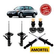 4 Amortecedores + Kits Batentes Do Honda Civic Ano 03/05