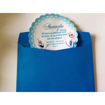 Kit 30 Convites Frozen + Envelopes + Adesivo