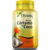Oleo De Cartamo Com Coco 1000mg 60 Capsulas Fitoway