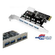 Placa Pci Express X1 Usb 3.0 4 Portas