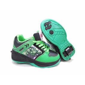Zapatillas Con Ruedas Spiderman Ironman Hulk Varon Childrens