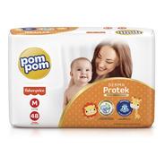 Fralda Pom Pom Derma Protek Mega M 48un