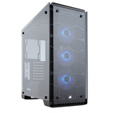 Gabinete Pc Gamer Corsair 570x Negro Rgb Cristal 3 Fan Led