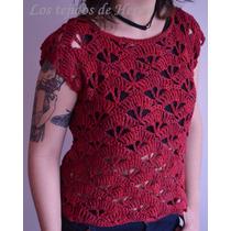 Remera - Musculosa Calada De Algodón Tejida En Crochet