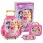 Kit Escolar Princesas Disney Mochila Rodas Lancheira Estojo