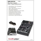 Mezclador 2 Ch Audiopipe Aqm-1200 Xlr Bm Champagnat Pni