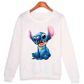 Blusa Moletom Gola Redonda Unissex Lilo & Stitch Desenho