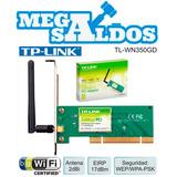 Megasaldos Adaptador Tarjeta Red Pci Wifi 54mbps Tl-wn350gd