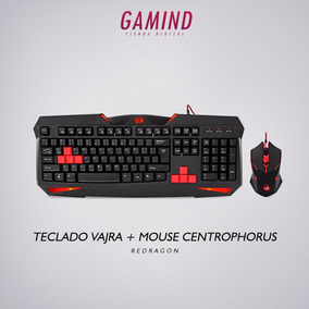 Kit Gamer Teclado Vajra & Mouse Centrophorus Redragon