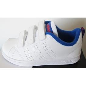 Tenis adidas Niño Blanco-azul 18 Cm