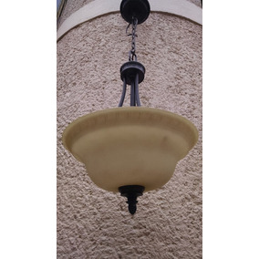 Lámpara Moderna Candil Colgante Fierro Cristal Antigua