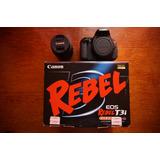 Cámara Profesional Canon Rebel T3i Pantalla Microfono 18mpx