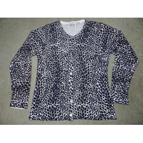 Saquito Saco Sweater Animal Print Importado Impecable
