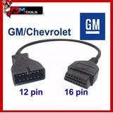 Cable Adaptador. Gm/ Chevrolet 12 A 16 Pines Obd2