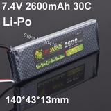 Li-po 7.4 V 2s 2600mah 30c Ideal Para Receptor Rc Combustion