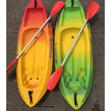Kayak De Niño Acuasport + Pala Doble Modelo Chico