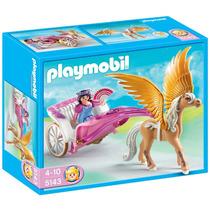 Playmobil Pegaso Con Carruaje Caballo Y Muñeca Art. 5143