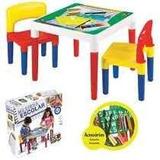 Mesa Didática Infantil Escolar Com 2 Cadeiras Bell Toy