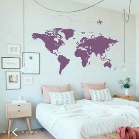 Vinilos Decorativos Mapa Del Mundo Paises Perasonalizados