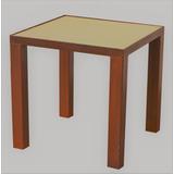Mesa Ratona Diseño Industrial. Hierro Y Cemento. Madera