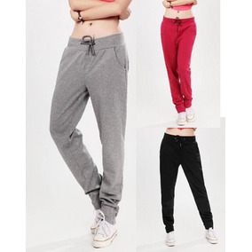 Calça De Moleton Feminina Skinny Slim Swag Casual