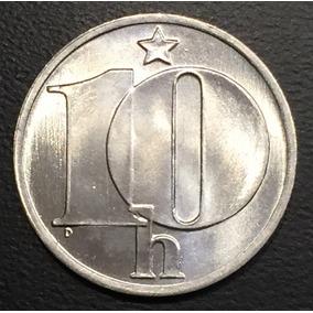 Che002 Moneda Checoslovaquia 10 Haleru 1982 Unc-bu Ayff