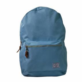 Mochila Escolar Casual C/alça E Bolso Yins Azul