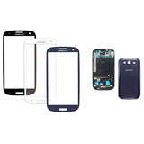 Carcaça Completa + Aro + Vidro + Adesivo Galaxy S3 Gt-i9300