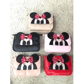 Kit - 5 Bolsas Carteira Minnie Fashion - Mega Promoção