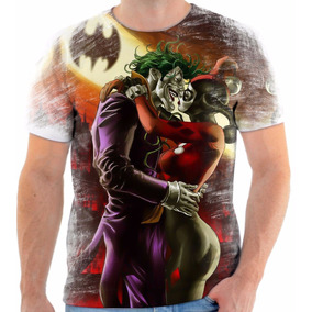 Camiseta Camisa Personalizada Arlequina E Coringa