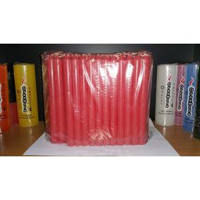 Velas Largas Comunes X100 Rojas 19cm 2 Paquetes