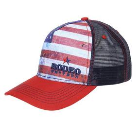 cfb05e16ef26e Bone Com Bandeira Dos Estados Unidos Com Velcro - Bonés para ...