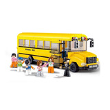Brinquedo Lego Onibus Escola Amarelo