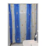 Cortina Para Box Banheiro Poliester 711-8530001 C/ Ganchos